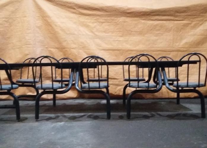 Mesa de refeitório para dez pessoas