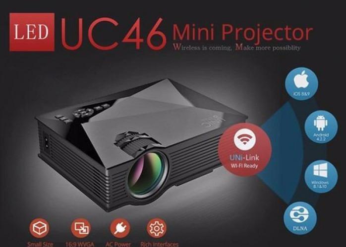 Mini Projetor WIFI LED 130 Polegadas