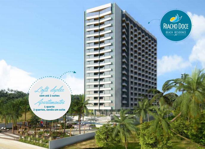 Apart-hotel Quarto Sala a Beira Mar de Riacho Doce - Apartamento a Venda no bairro Riacho Doce - Maceió, AL - Ref: PI58386