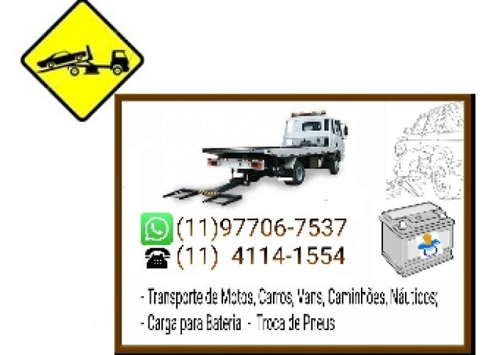 Guincho Carga para Bateria Chacara Flora