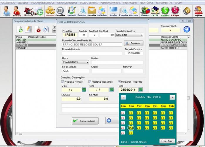 Programa OS Oficina Mecânica MOTO, Vendas, Controle de Estoque e Financeiro v4.1 fpqsystem