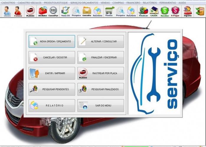 Programa Oficina de Auto Elétrica com Ordem de Serviço, Vendas com Financeiro v2.0