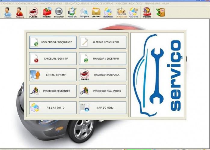 Programa Oficina Auto Elétrica com Vendas e Estoque v1.0 fpqsystem