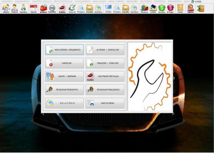 Programa OS Oficina Mecânica Check List, Vendas, Estoque e Financeiro v6.0 Plus fpqsystem