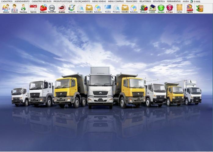 Programa OS Oficina Mecânica Caminhão com Check List, Vendas, Estoque e Financeiro v6.2 Plus fpqsystem