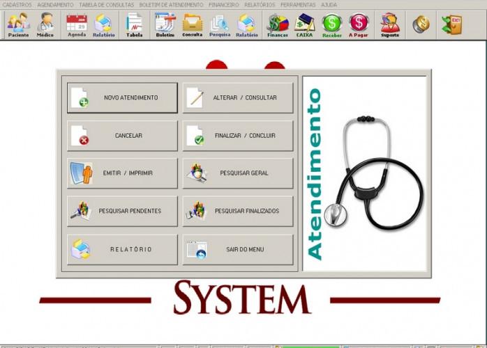Programa Consultório e Clinica Médica com Agendamento e Financeiro v3.0 fpqsystem