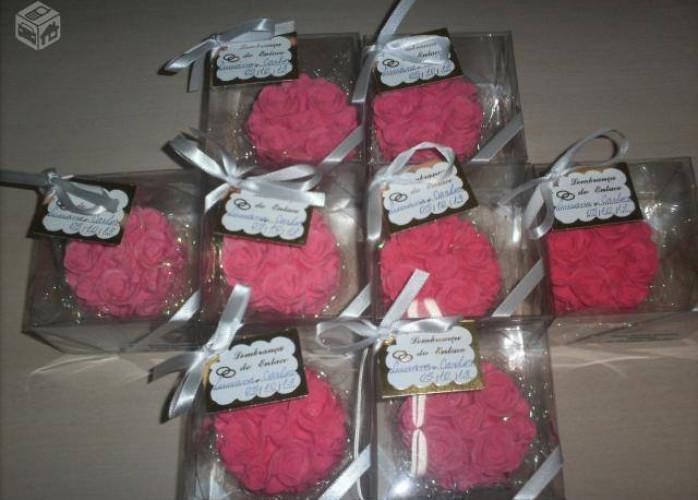 Lembrancinha Sabonete Mini Rosa
