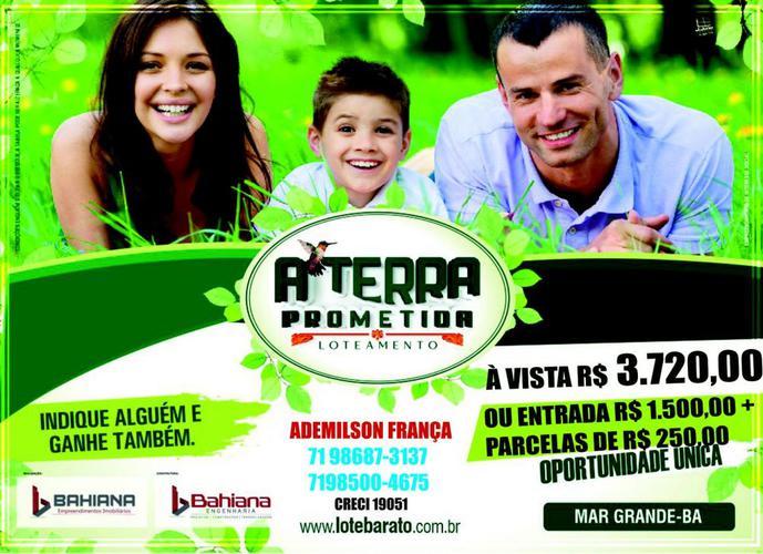Loteamento TERRA PROMETIDA - Terreno a Venda no bairro Mar Grande - Vera Cruz, BA - Ref: IMO76279