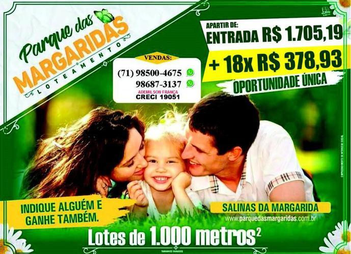 Loteamento Parque Jardim das Margaridas - Terreno a Venda no bairro Conceição de Salinas - Salinas da Margarida, BA - Ref: IMO20897
