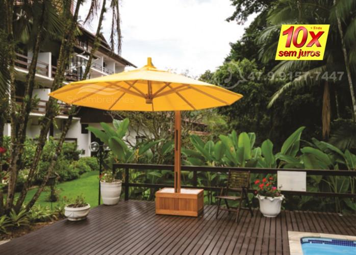 Estabelecimentos comerciais com a sofisticação dos ombrelones de madeira