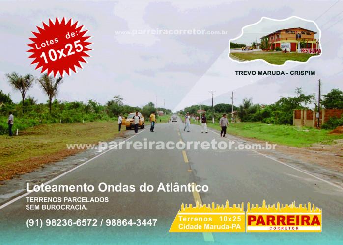 Terrenos em Maruda, Marapanim, Crispim, Algodoal, apenas R$ 150,00 mensais, lig, Parreira Corretor