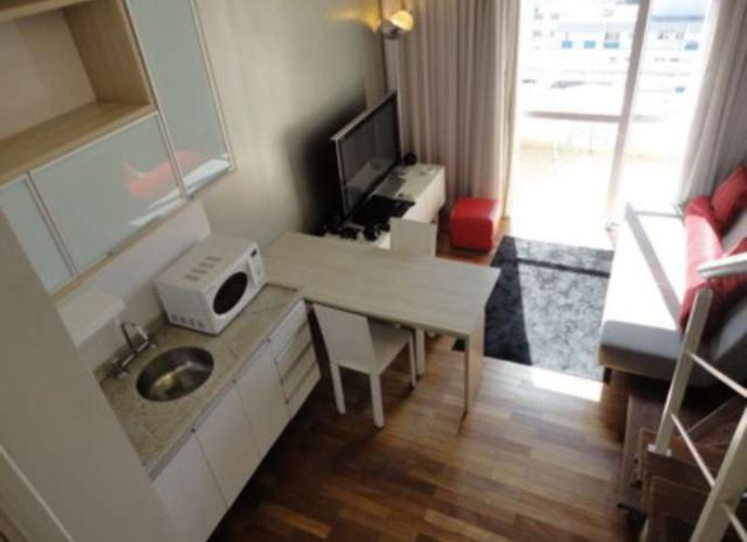 Flat em Brooklin/SP de 45m² 1 quartos para locação R$ 3.900,00/mes