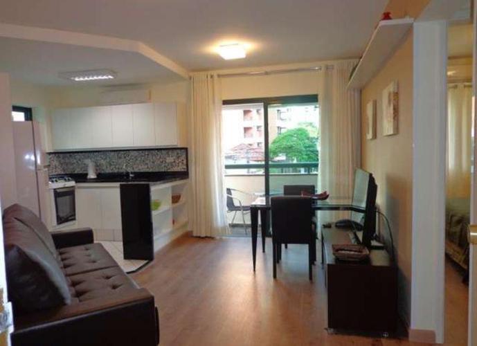 Flat em Itaim Bibi/SP de 40m² 1 quartos para locação R$ 3.500,00/mes