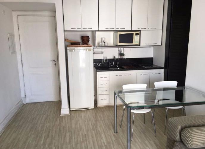 Flat em Itaim Bibi/SP de 45m² 1 quartos para locação R$ 3.200,00/mes