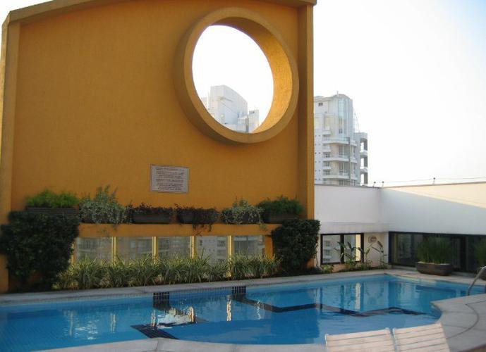 Flat em Moema/SP de 35m² 1 quartos para locação R$ 3.500,00/mes