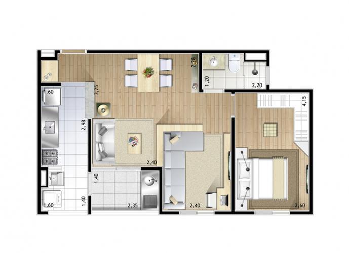 Apartamento em Centro/SP de 54m² 2 quartos a venda por R$ 240.331,00