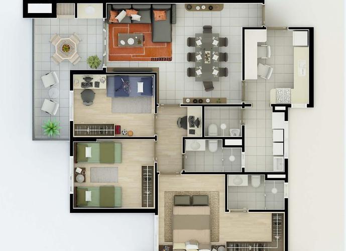 Apartamento em Jardim Sumaré/SP de 98m² 3 quartos para locação R$ 1.900,00/mes