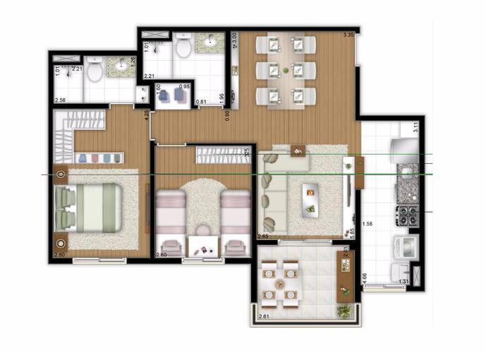 Apartamento em Maranhão/SP de 68m² 2 quartos a venda por R$ 405.000,00