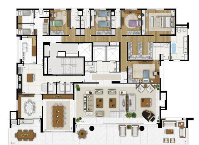 Apartamento em Parque Colonial/SP de 485m² 5 quartos a venda por R$ 4.495.000,00