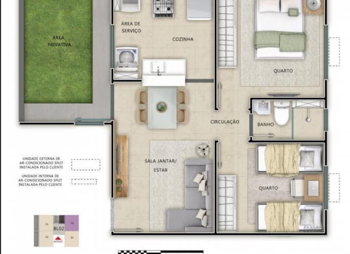 Apartamento em Jardim Imperial/GO de 4179m² 2 quartos a venda por R$ 140.636,00