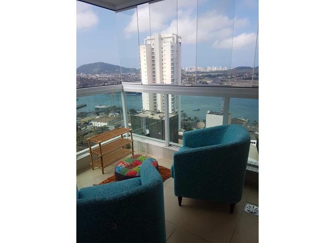 Apartamento em Ponta Da Praia/SP de 167m² 3 quartos para locação R$ 7.000,00/mes
