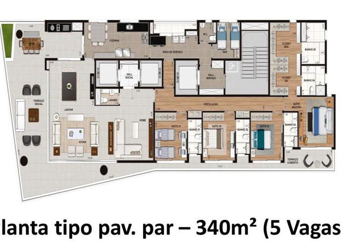 Apartamento em Ibirapuera/SP de 338m² 4 quartos a venda por R$ 10.993.963,00