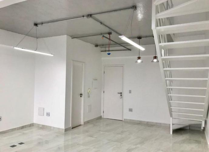 Sala em Vila Mathias/SP de 60m² para locação R$ 3.000,00/mes