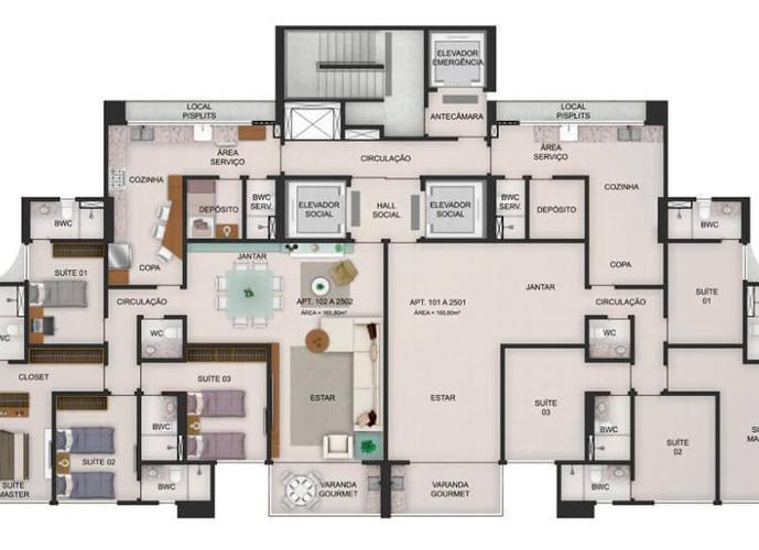 Apartamento em Casa Forte/PE de 165m² 4 quartos a venda por R$ 960.000,00