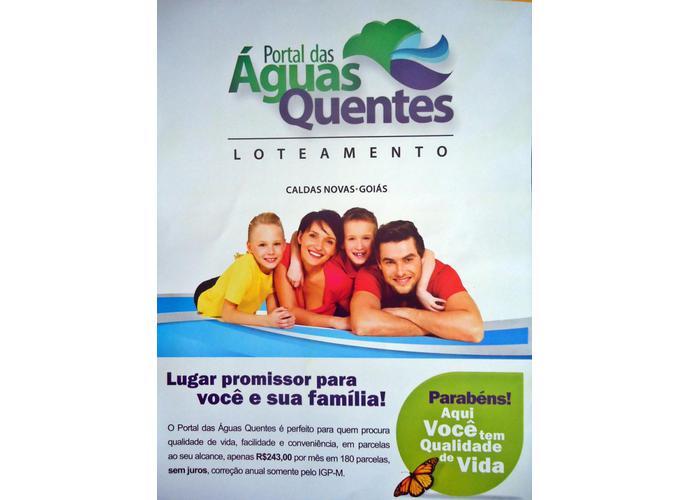 Portal das Águas Quentes Caldas Novas Goiás - Lote a Venda no bairro Portal Das Águas Quentes - Caldas Novas, GO - Ref: YU78445