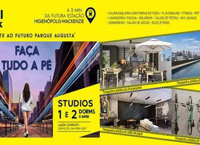 YOU CENTRAL PARK - Studio em Lançamentos no bairro Consolação - São Paulo, SP - Ref: LA46370