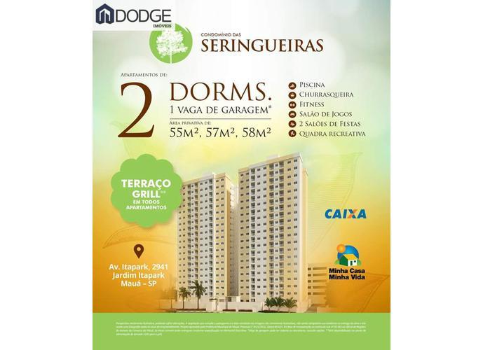 Apartamento a Venda no bairro Jardim Itapark Novo em Mauá - SP. 1 banheiro, 2 dormitórios, 1 vaga na garagem, 1 cozinha,  área de serviço,  sala de tv,  sala de jantar.