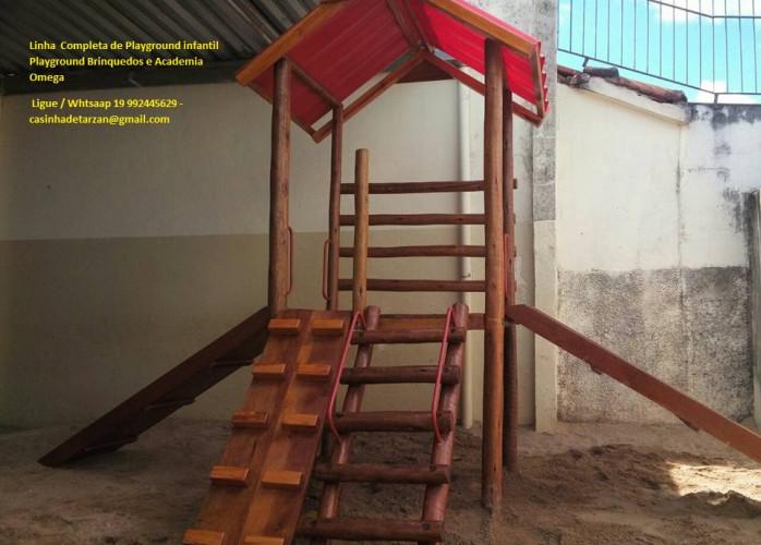 playground de madeira infantil