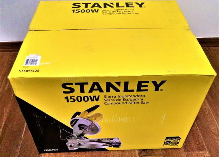 Serra esquadria Stanley 10Pol STSM1525B2-220V-1500W- 2 lâminas de serra + 1 DeWALT DW03120 novas