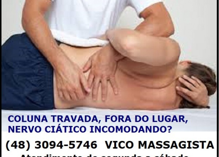 Nervo Ciático, Torcicolo, Dor Lombar, Dor na Coluna, Dor nas Costa, ombro e pescoço