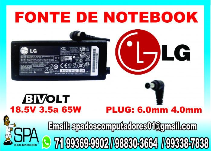 Fonte Carregador Notebook LG em Salvador BA