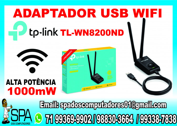 Adaptador WiFi Tp-Link TL-Wn8200Nd em Salvador Ba