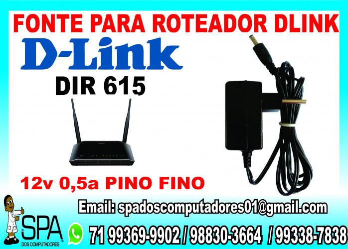 Fonte para Roteador D-Link 615 em Salvador BA
