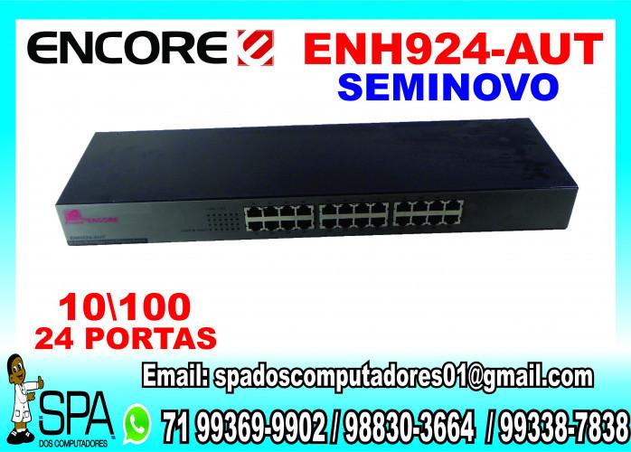 Switch Hub Encore 24 portas 10100 Mbits Enh924-Aut Seminovo em Salvador Ba