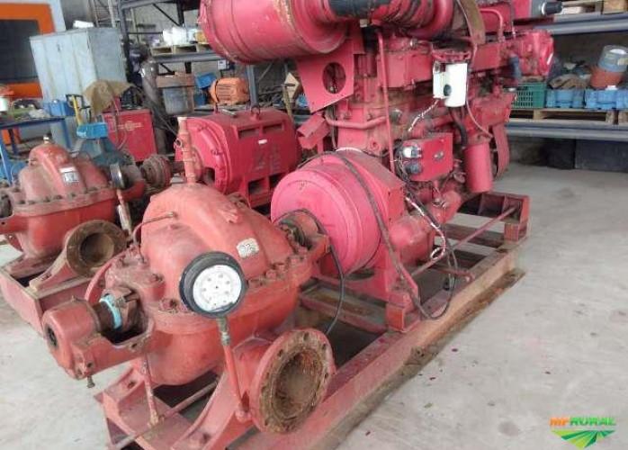 Moto Bomba motor Cummins Diesel 900m³ - Alta pressão - Wortington 8 LN -18 (Cód. 313877)