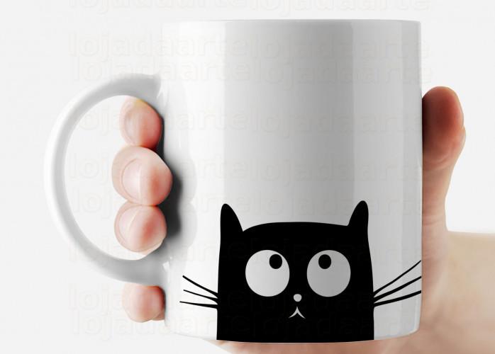 Caneca gato cute cód: 1045g