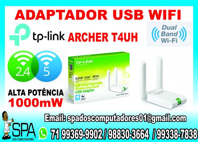 Adaptador WiFi Tp-Link Archer T4Uh AC1200 Novo em Salvador Ba