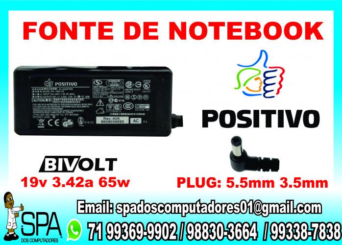 Fonte Carregador Notebook Positivo 19v 3.42a em Salvador Ba