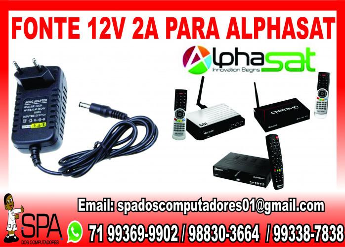 Fonte Nova de energia 12v-2a para Aparelho AlphaSat em Salvador Ba