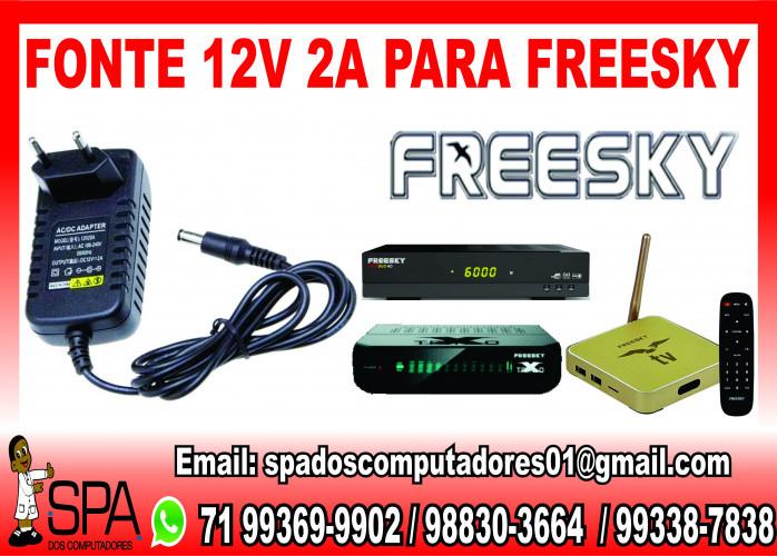 Fonte Nova de energia 12v-2a para Aparelho FreeSky em Salvador Ba