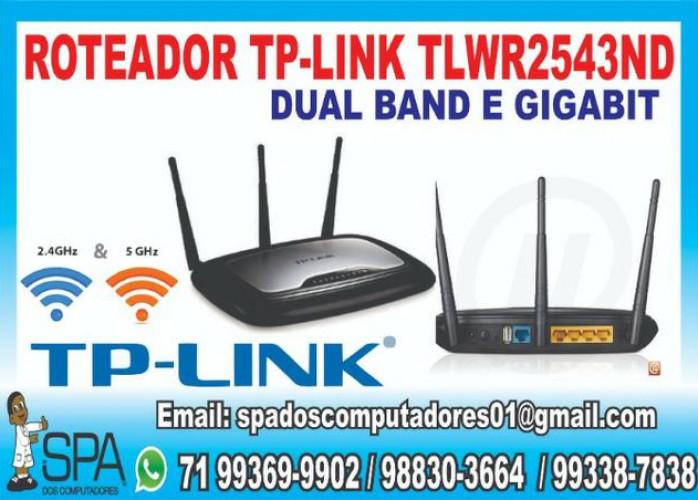 Roteador Wi Fi Tp-Link TLWR2543ND Dual Band 2,4 e 5.0 Ghz 3 Antenas e Gigabit em SSA Ba