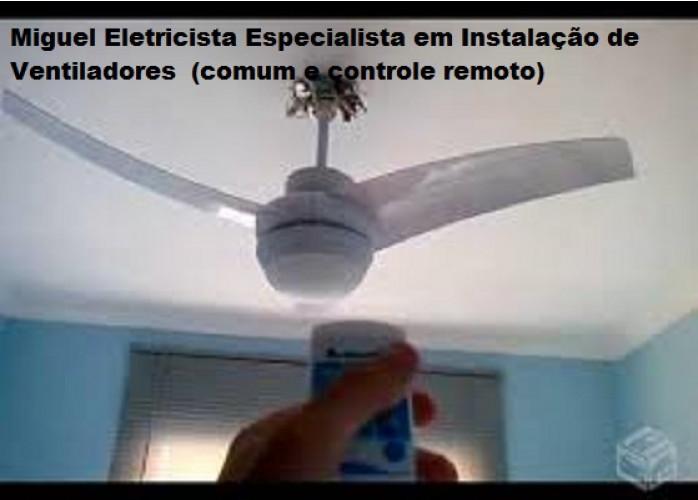 Instalação: Ventiladores (comum e controle remoto)