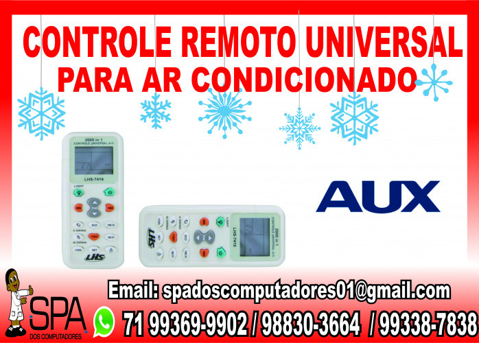Controle Remoto Universal para Ar Condicionado Aux em Salvador Ba
