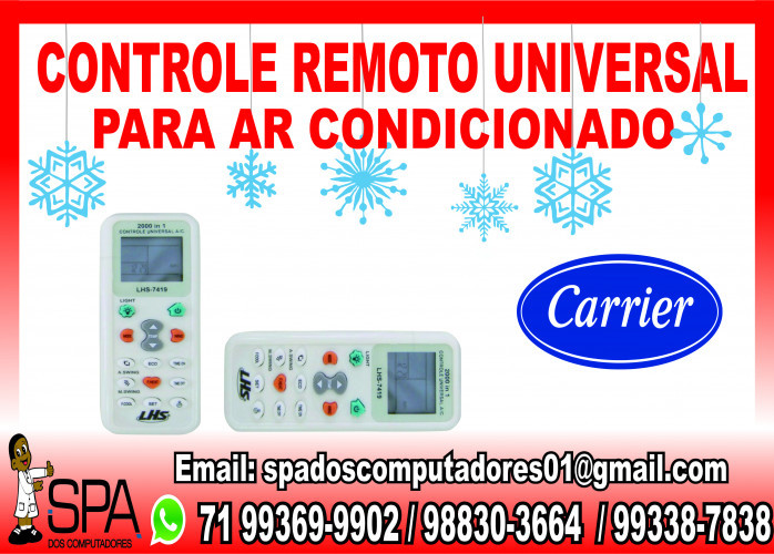 Controle Remoto Universal para Ar Condicionado Carrier em Salvador Ba