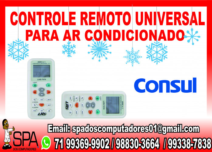 Controle Remoto Universal para Ar Condicionado Consul em Salvador Ba