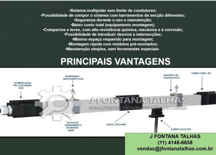 Barramento Blindado Suspensão Deslizante KGA J Fontana Talhas mf